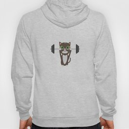 Fitness cat weight lifting   Hoody