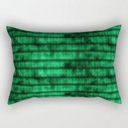 Green Dna Data Code Rectangular Pillow