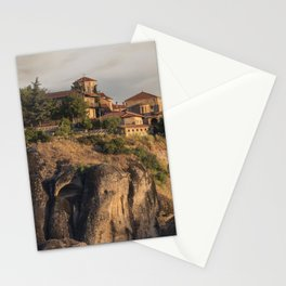 Sunny morning in Meteora Stationery Cards