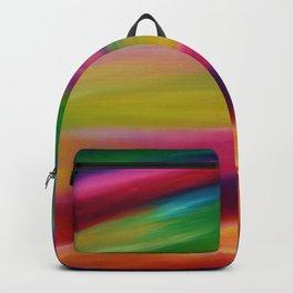 Rainbow Iridescence - Sky Art - Fantasy Sky Art - Abstract Sky Art - Celestial Sky - Colourful Sky Backpack