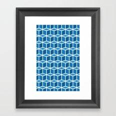 Blue Boxes Framed Art Print