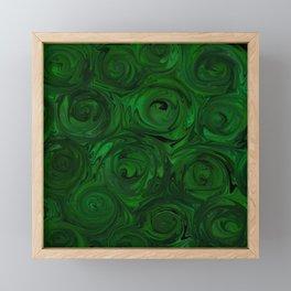 Emerald Green Roses Framed Mini Art Print