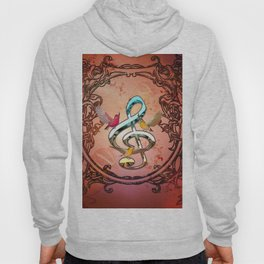 Decorative clef with songbirds Hoody