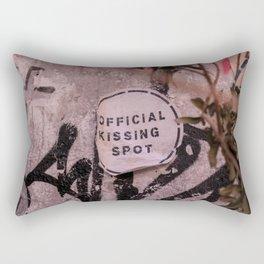 Kissing Spot Sticker & Tags Rectangular Pillow