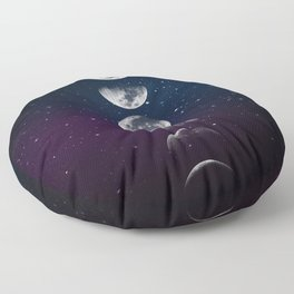 Phases of the Moon Floor Pillow