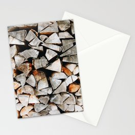 Photo of a pile of tree trunks, wood, in the Black Forest/Schwarzwald, Germany | Fine Art Colorful Travel Photography |  Stationery Cards