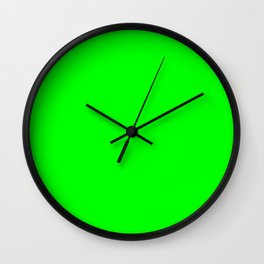 Lime Green Wall Clock