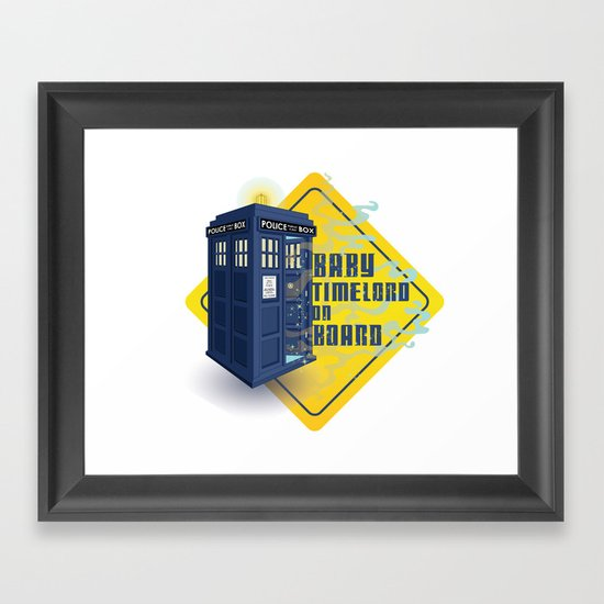 Doctor Who Tardis - Baby Timelord on Board Framed Art Print