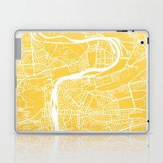 Prague map yellow Laptop & iPad Skin