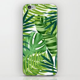 Tropical leaves III iPhone Skin