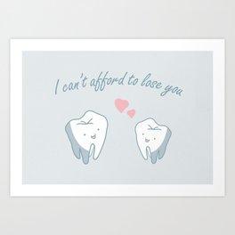 Teeth in Love  Art Print