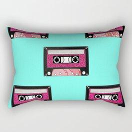 Pink floral cassette print Rectangular Pillow
