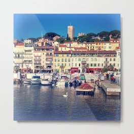 French Riviera - Cannes Swan Metal Print