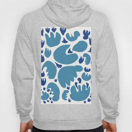 Abstract Blue Sea Pattern Illustration Decoration French Art Hoody