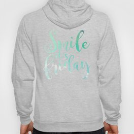 Smile It's Friday Watercolor Hoody