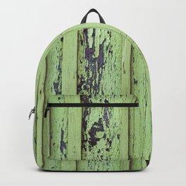 Rustic mint green grunge wood panels Backpack