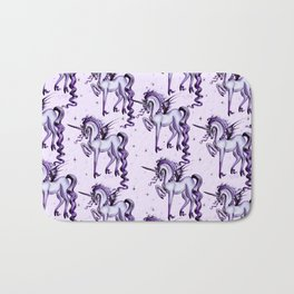 Unicorn with Bat Wings Bath Mat