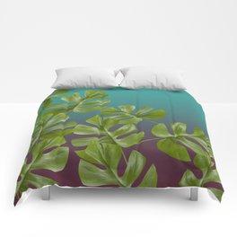 Monstera LEAFS Comforters