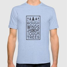 TOUGH TREES Mens Fitted Tee X-LARGE Tri-Blue
