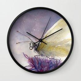 Dancing With Moonlit Wings Wall Clock