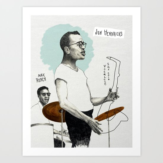ANALOG zine - Vocalese Sax Solo Art Print