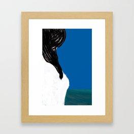 she is the sea Framed Art Print