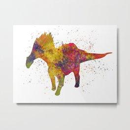 Amargasaurus dinosaur in watercolor Metal Print