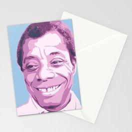 James Baldwin Portrait Blue Purple Stationery Cards