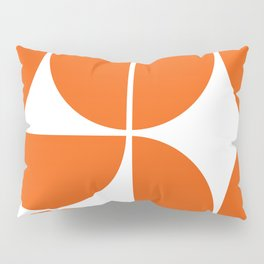 Mid Century Modern Orange Square Pillow Sham