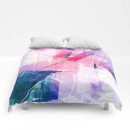 Enlighten - Geometric Abstract Art Comforters