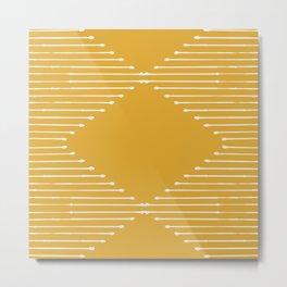 Geo / Yellow Metal Print