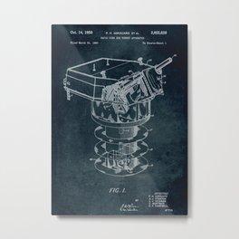 1950 - Rapid fire gun turret apparatus patent art Metal Print