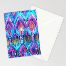 Ikat #32 Aqua Stationery Cards
