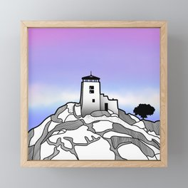 Black Elk Peak Framed Mini Art Print