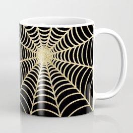 Spiderweb | Gold Glitter Coffee Mug