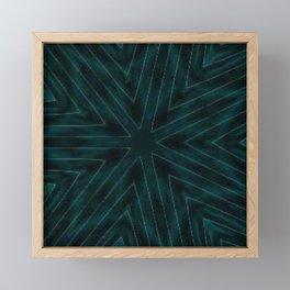 Teal Forest Green Snowflake Framed Mini Art Print