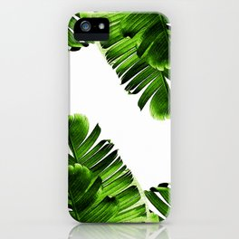 Green banana leaf iPhone Case