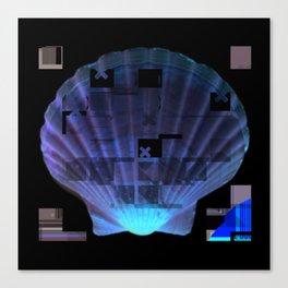Cross Collage Prints Sea Shell Canvas Print