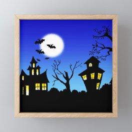 Blue Sky Of Nightmare Framed Mini Art Print