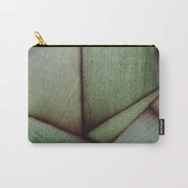 Beautiful Unique maple green wood veneer design Carry-All Pouch