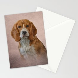 Drawing Dog Beagle Stationery Cards