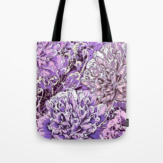 Flowers - blue mood Tote Bag