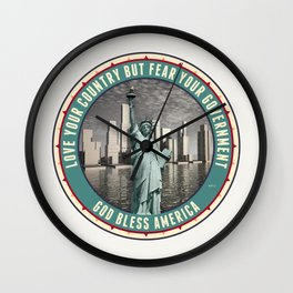 Fear Your Government Wall Clock