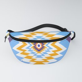 Bright blue native pattern Fanny Pack