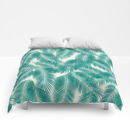 Green Tropical Palm Leaves Comforters