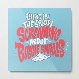 Lying in the snow screaming... Metal Print