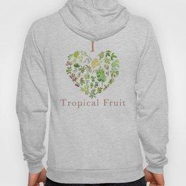 Tropical Fruit Love Heart Hoody