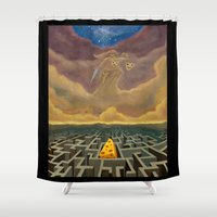 justice Shower Curtains featuring Justice Game by gunberk
