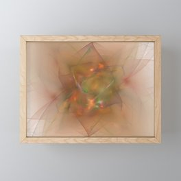 Folds In Muted Rainbow Framed Mini Art Print