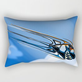 Retro Bomb Falling Rectangular Pillow